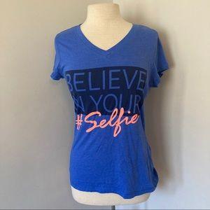 *2/15* Believe in Yourself #Selfie V Neck T Shirt